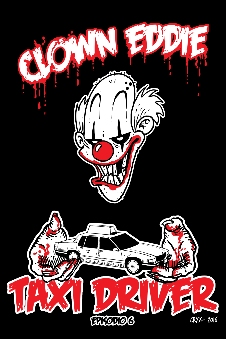 Clown Eddie: Taxi driver